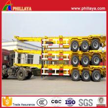 Contenedor transporte chasis Semi camión remolque vehículo largo