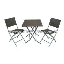 Outdoor PE Wicker Furniture 3 Stück Patio Wicker Set