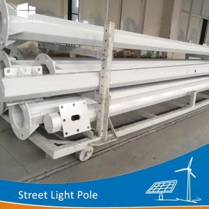 DELIGHT Solar Outdoor Lighting Steel Poles
