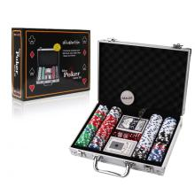 Plastic Poker Chips In Aluminum Box Set
