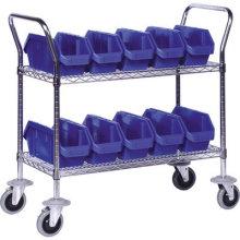 NSF Metal Utility Cart Metal Service Trolley pour hôpital