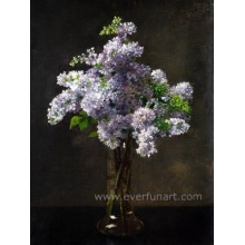 Pure Hand-Painted Oil Paintings Flowers on Canvas Wall Art for Living (ECH-109)