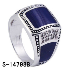 Factory Hot-Selling 925 Sterling Silver Enamel Ring for Man.