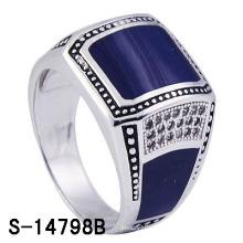 Fábrica Hot-Selling 925 anel de esmalte de prata esterlina para o homem.