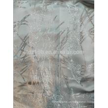 El nuevo hilo de poliéster del diseño 100% del scrawl de la llegada teñió la tela del telar jacquar para la ventana