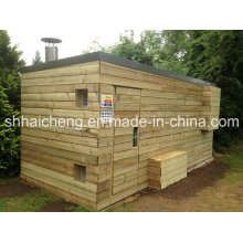Conteneurs de salle de séchage de site de 40 pieds avec panneau de bardage en bois (shs-fp-special008)