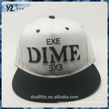 Logotipo do emboridery de 5panel tampa do snapback do contraste feito na porcelana