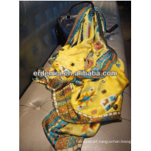 fashion graceful girl indian silk shawl