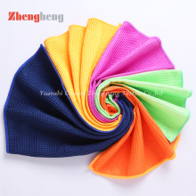 Super Microfiber Waffle Knitted Towels OEM Produced