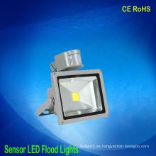 Luces de inundación llevadas al por mayor con el sensor de movimiento de la inducción 30w 85v-265v
