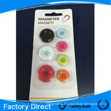 Color round magnet button for whiteboard ; button magnet; plastic fridge magnet
