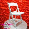 Chaise pliante de mariage en résine blanche blanche