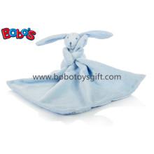 """Blue Rabbit Bunny Consolador Doudou Blankie-Azul 27cm / 10.6 """"Quadrado"""