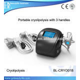 Portable black model 3 handles cryolipolysis fat freezing Device