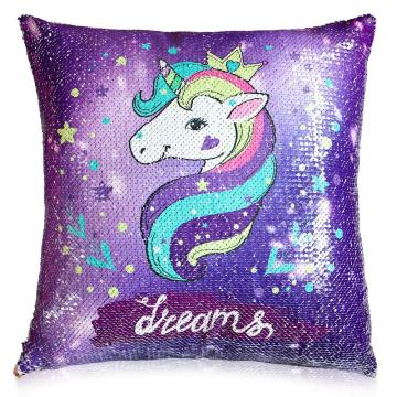 UNICORN REVERSIBLE SEQUINS CUSHION-0