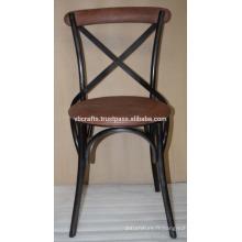 Chaise à dossier en cuir industriel en cuir