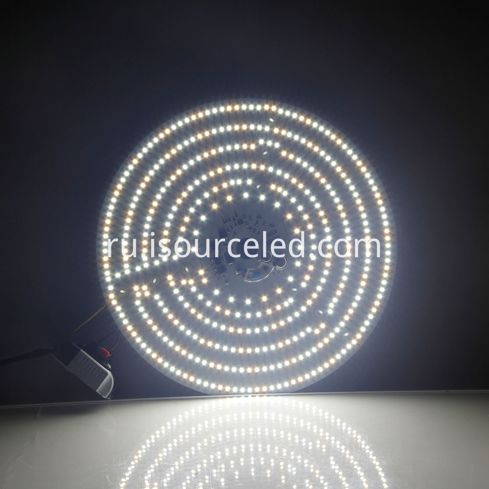 Colorable smd 2835 Round 40W AC LED Module lighting effects