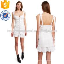 Broderie con cordones del vestido del corsé Fabricación al por mayor de prendas de vestir de las mujeres de moda (TA4084D)