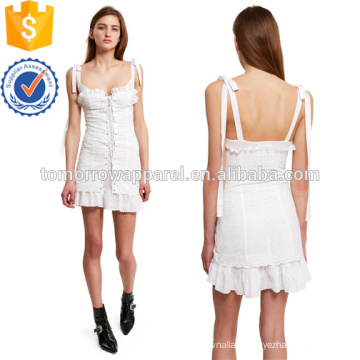 Broderie Lace-Up Corset Dress Manufacture Wholesale Fashion Women Apparel (TA4084D)