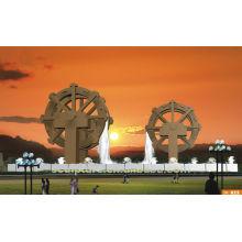 Escultura de la fuente del waterwheel