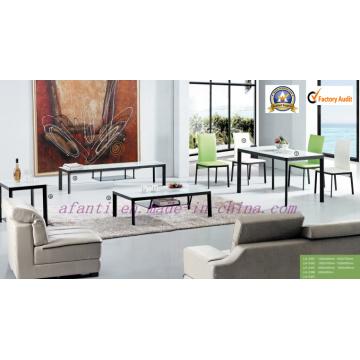 Modernos muebles de comedor simple mesa de comedor de cristal y sillas de comedor (239)
