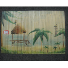 (BC-M1026) Handmade Natural Bamboo Rectangle Heat Insulation Placemat