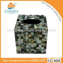 Черная маска натурального ремесла Коробка из перламутровой ткани