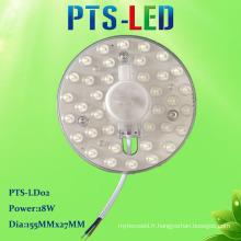 Surface magnétique montée facile remplacer Module de LED pour plafonnier 18W 220V