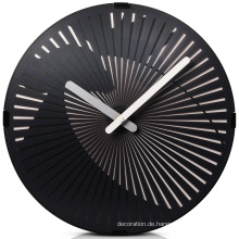 Moderne schwarze Wand Kunst Uhr