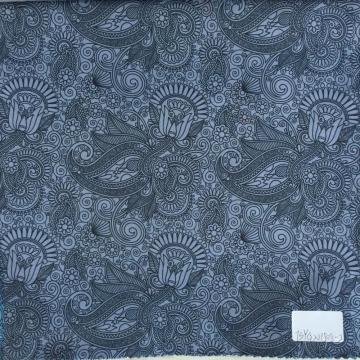 Hanging Garden Black/Grey Printed Lining