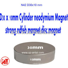 Neodymium disc magnets D30X10mm