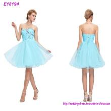 Custom Made Sleeveless Beaded Appliques Lady Dress Evening Dress Prom Dress