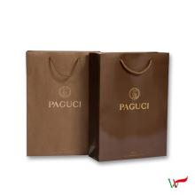 Sac-cadeau enduit à la mode de papier, sacs-cadeaux plastifiés