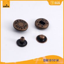 Customized Metal Press Snap Button with Logo Engraved BM10152