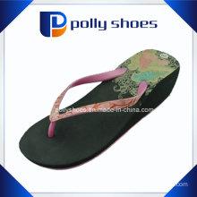 Ladies Spot on Wedge Heel Toe Post Flip Flop Beach