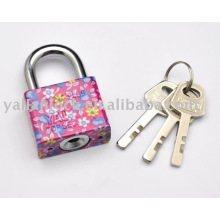 square shape colorful disc mechanism iron padlock