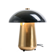 Promotional products iron plating mushroom shaped desk reading lamp lighting wholesale modern hotel table lamp for bedroom