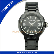 Stylish Ceramic Quartz Watch with Ceramic Band