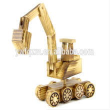 Excavadora de juguete de madera de la venta caliente