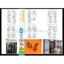 China hizo perfiles de ventana y puerta de aluminio-madera de alta calidad