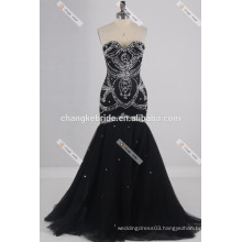 Luxury Strapless Chiffon Beaded Evening Dress Sexy Backless Mermaid Dress Train Sequined Formal Occasion Dress