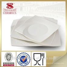 Оптом посуда для ресторанов, тонкого костяного фарфора квадратной пластины