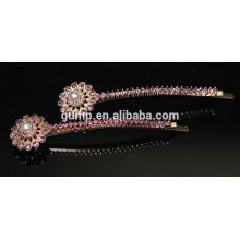 Fashion Metal Rhinestone bobby pin Beaded Crystal Barrettes