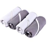 Waffle Microfiber Sports Towel With Zipper