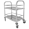 Stainless Steel Square Tube Drinking Trolley