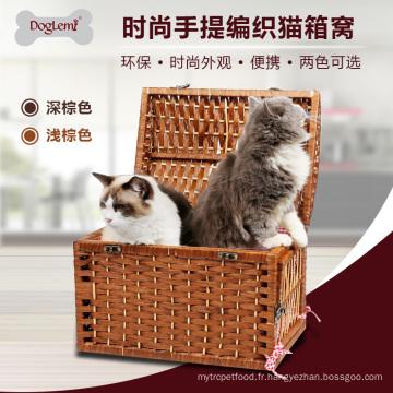 Chine fournisseur en gros osier poignée pour animaux de compagnie caverne pour chat