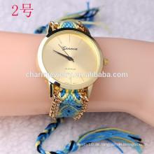 Neueste Armbanduhr mit Webenband / Dame Armbanduhren für Frauen BWL23