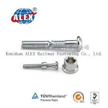 Boulon de hachage en acier inoxydable en acier au carbone personnalisé avec collier en laiton