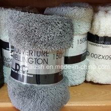 Catião coral manta de bebê fleece sólido