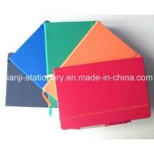 Caderno de couro PU com caneta (N1001)